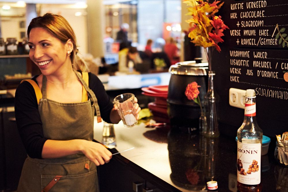 En altijd met een glimlach - Coffee-Star Hengelo (Tessa Wiegerinck)