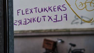 Flextukker graffiti flexplek ICON053 Concordia Enschede (Tessa Wiegerinck)